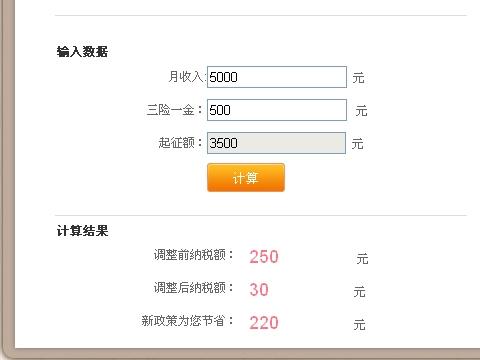 个人所得税计算器图片 40727 480x360