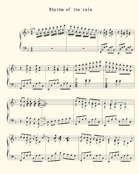 雨中的旋律 钢琴谱