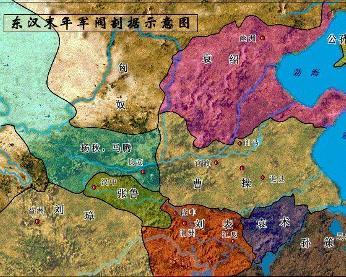 东汉末年军阀割据图