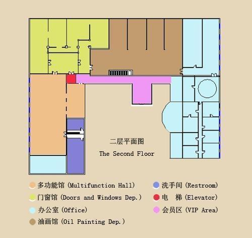 观复博物馆 馆平面图