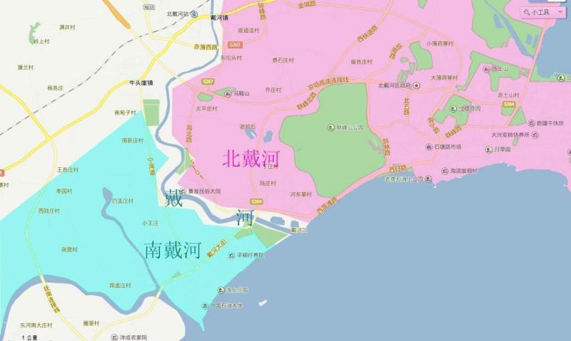 东戴河五区规划图