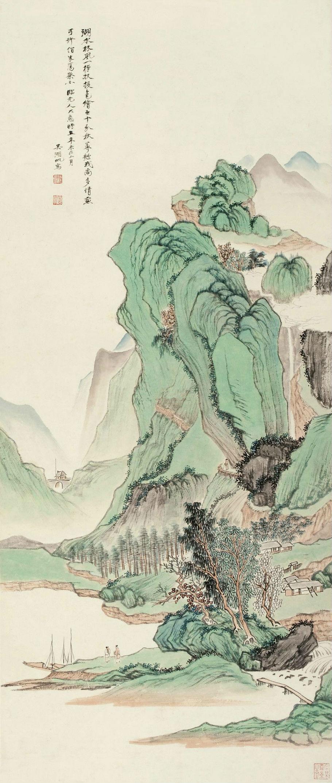 青绿山水图片