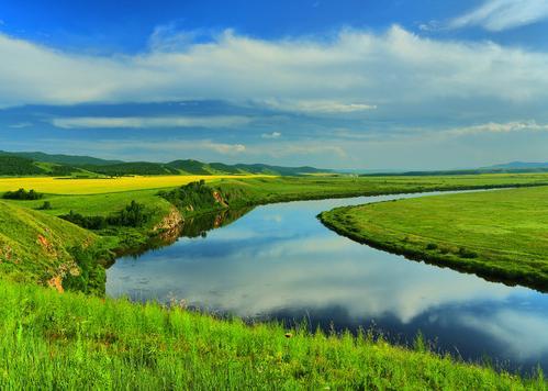 河湾发展手绘图