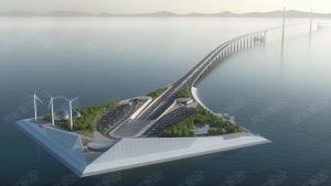 建设中的深中通道大桥【中山端】