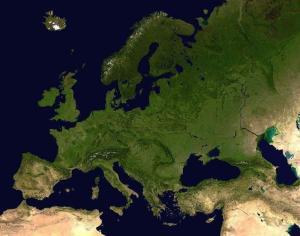 欧洲卫星图