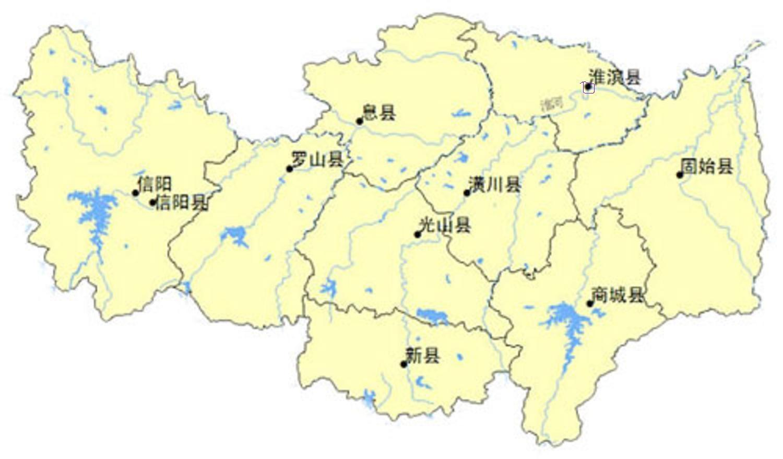 信阳各县人口_2017年信阳各县市人口和经济地图,看看你们县排第几