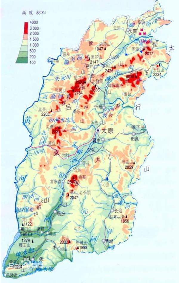 山西地图全图高清版本