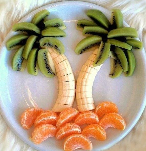 创意水果拼盘图片