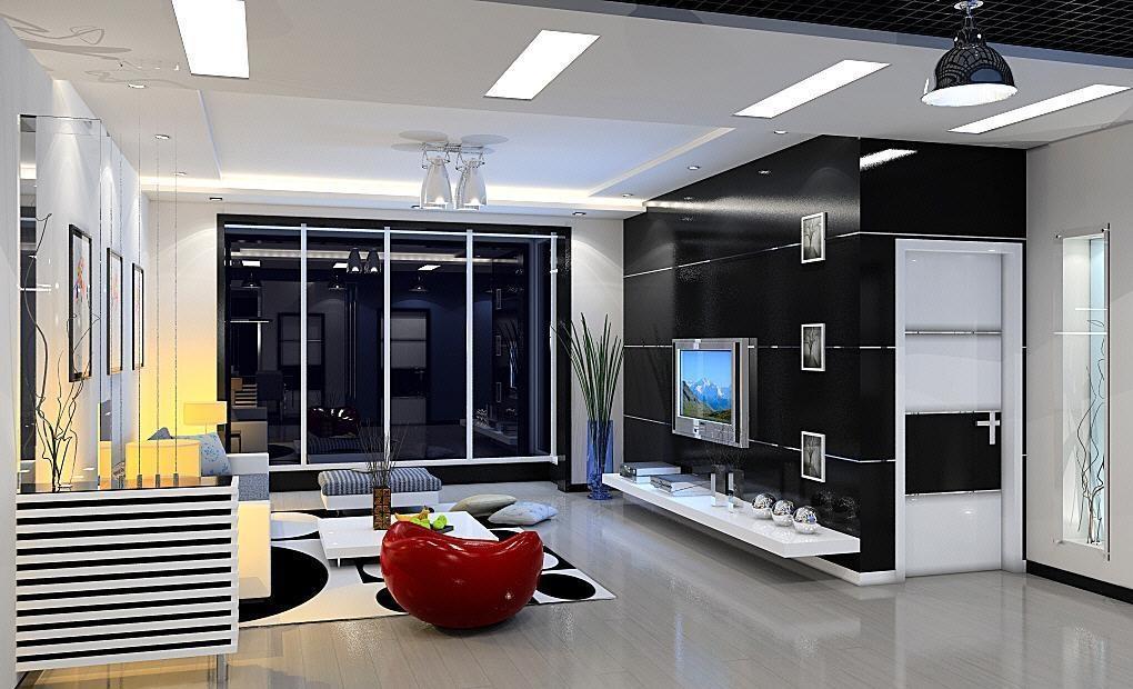 4米宽的电视墙效果图