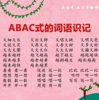 ABAC式成语 ABAC式成语 搜狗百科图片