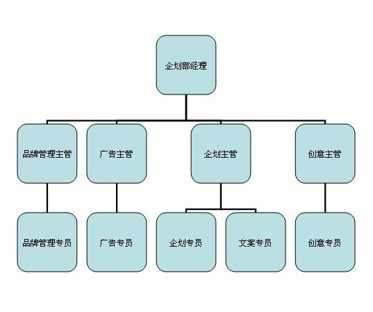 企划部组织架构图图片