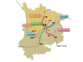 成贵高速铁路预计2020年前建成通车,届时该铁路连通成兰铁路构成