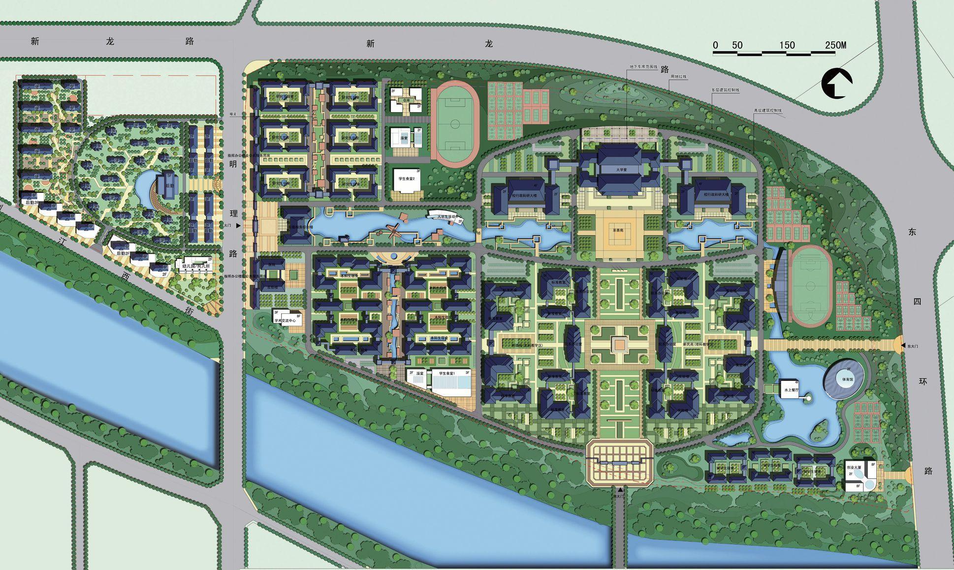 河南大学龙子湖校区规划图