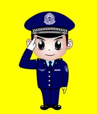 手绘漫画中国警察图片