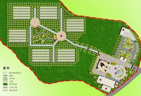 公墓规划设计图片
