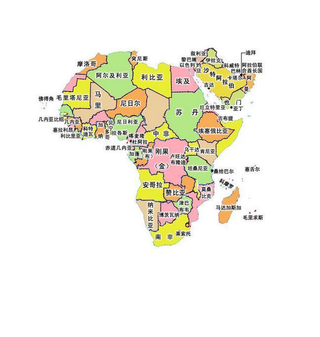 非洲尼加亚地图