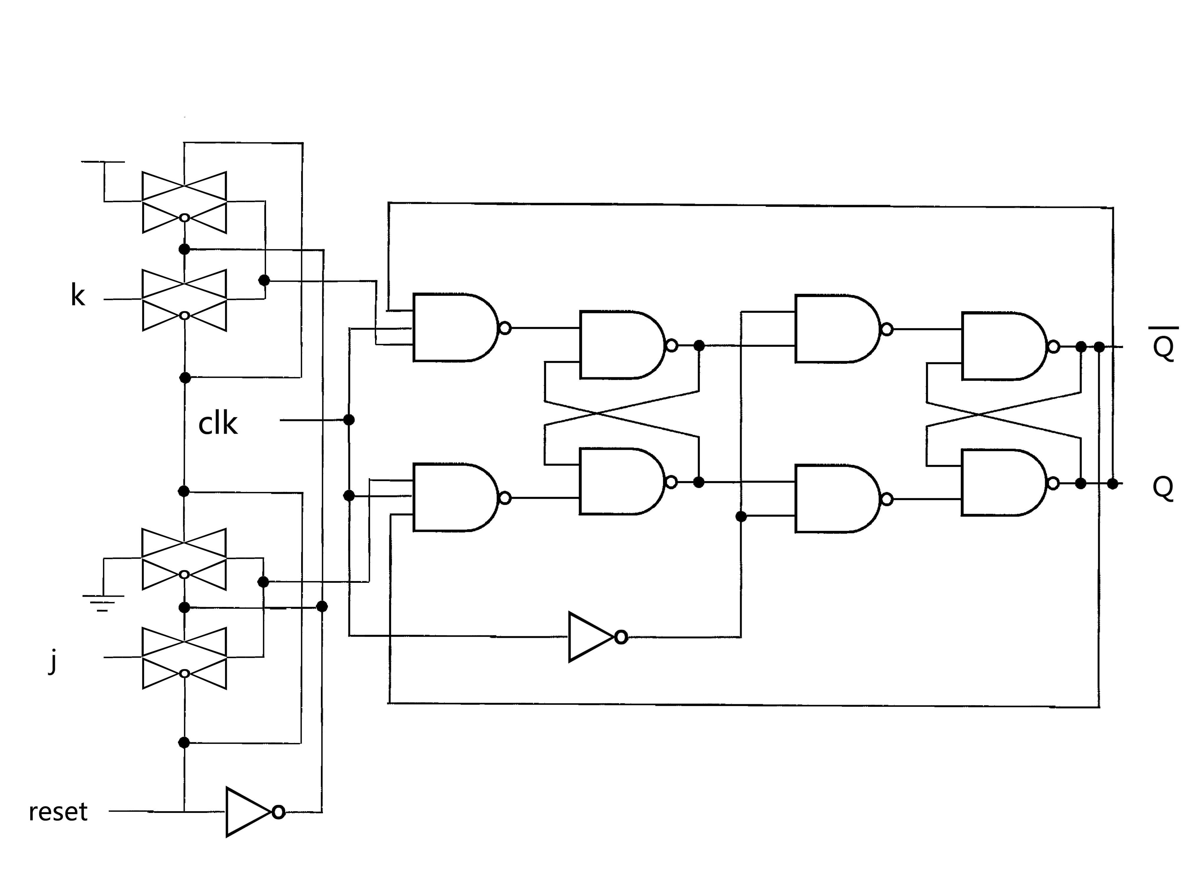 如何用jk触发器设计20进制异步加法计数器,附结构示意图片