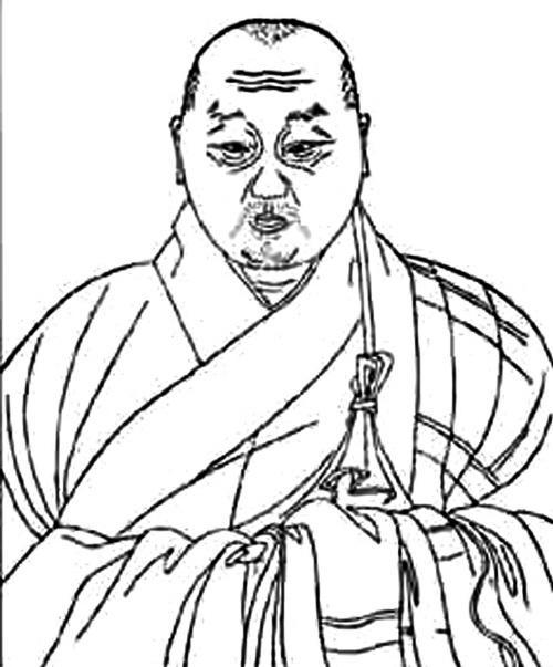 中年男子头部简笔画