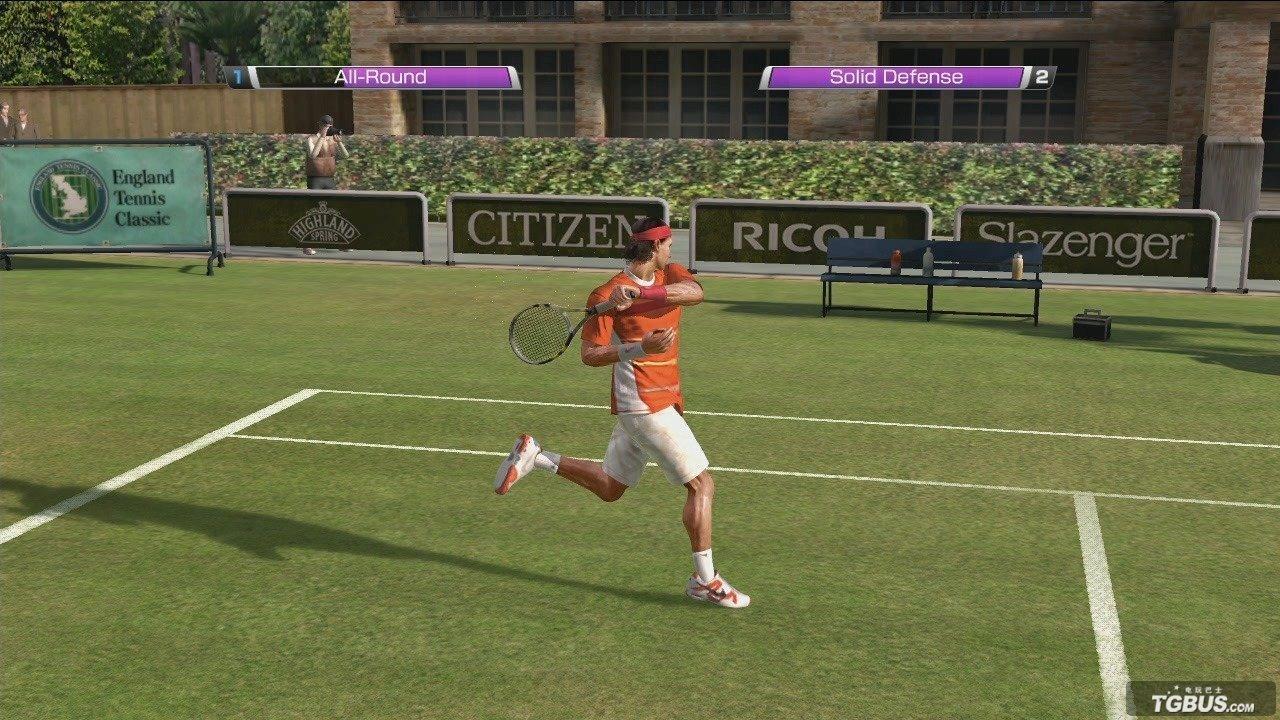 关于虚拟网球4的操作。