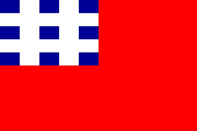设计方案之一方蓝井白满地红井字旗