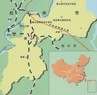 杭州市萧山地图高清版