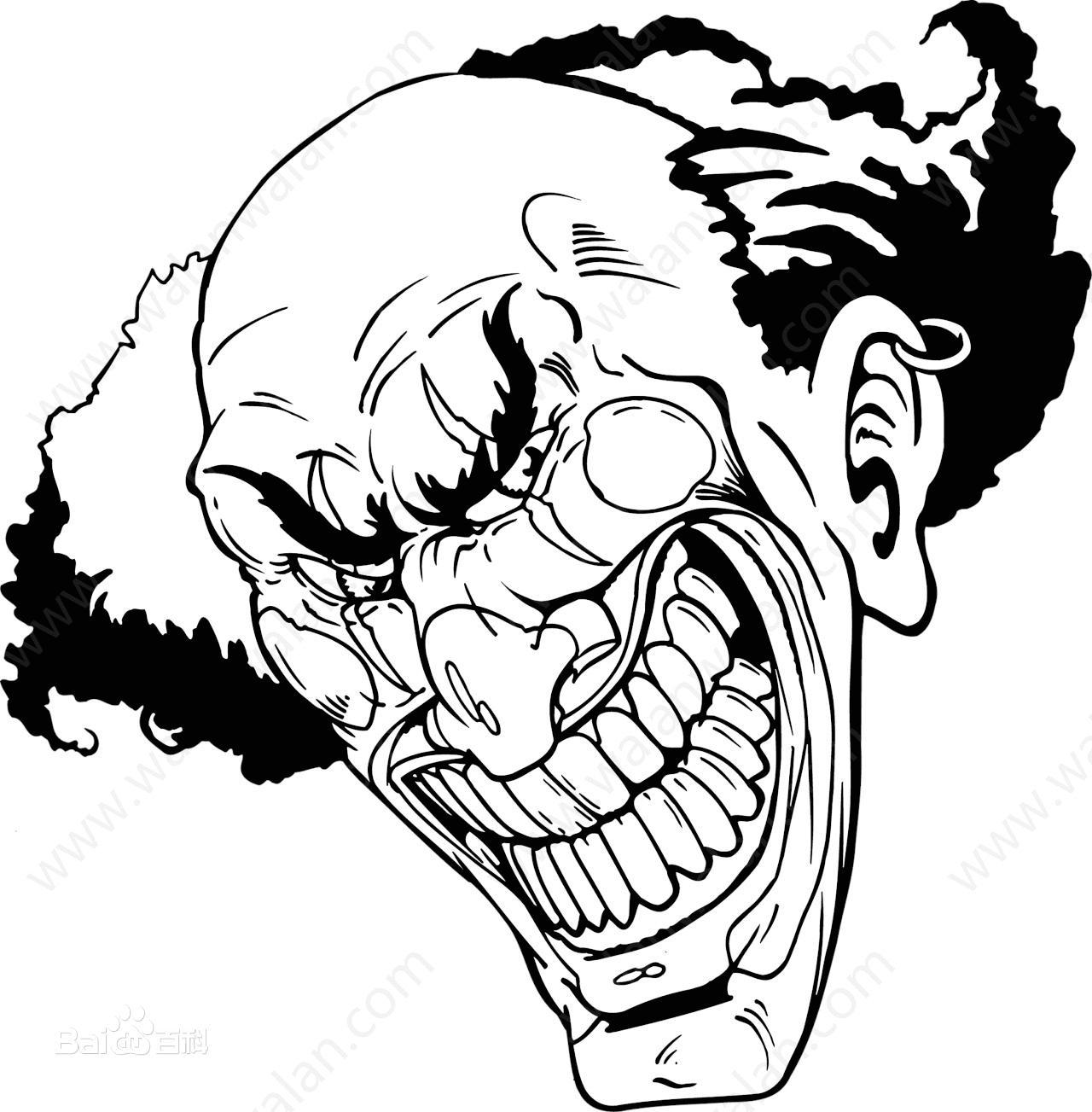 龇牙咧嘴用简笔画或漫画来解释