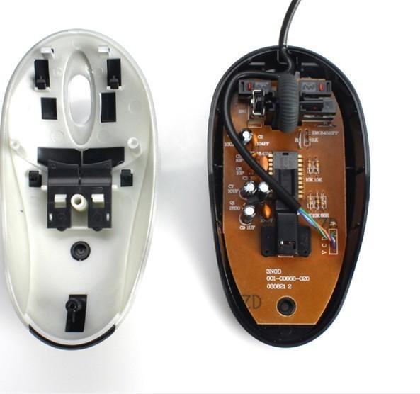鼠标产品手绘三视图