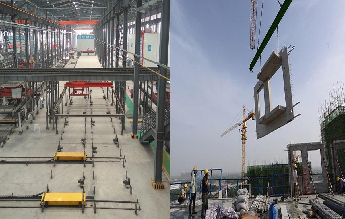 预制装配式建筑从建筑材料划分为预制装配式钢结构建筑和预制装配式