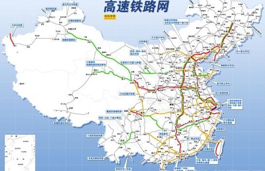 全国高铁基本线路图