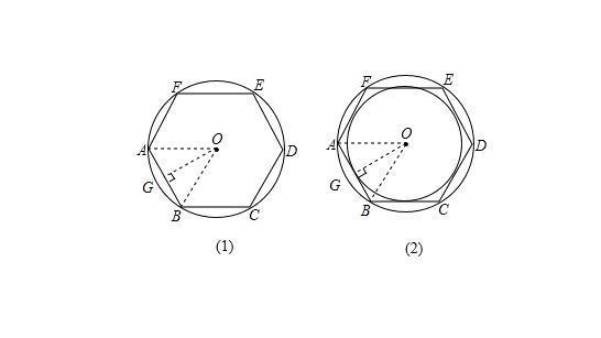 圆内接正六边形