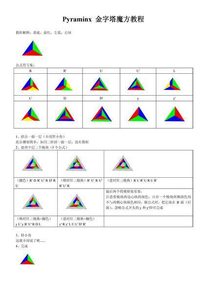 三角魔方公式