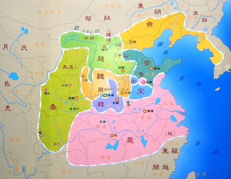 越_战国早期,上述大国,除吴于公元前473年被越
