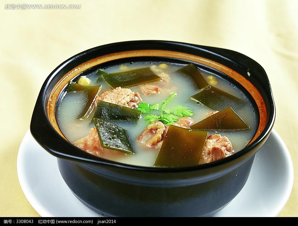 海带结萝卜排骨汤_果:预防乳腺增生 配    料:排骨,干海带结,白萝卜,料酒 特    点:此汤