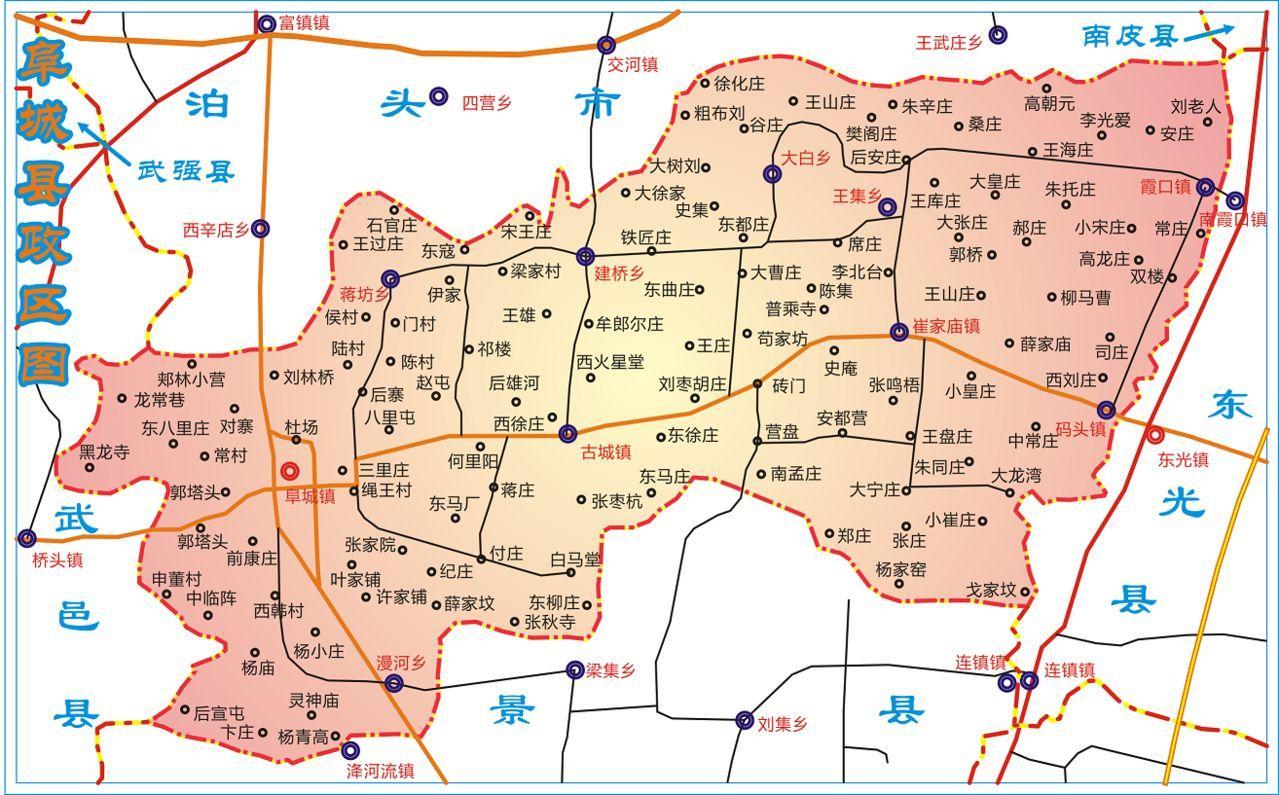 东部隔南运河与东光县相望,北部与泊头接壤,西部与武邑县毗邻,南部与