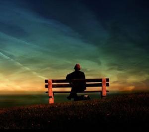表示孤单的可爱图片