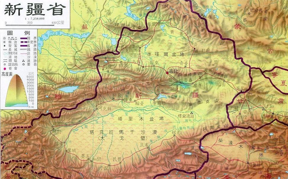 新疆省地图