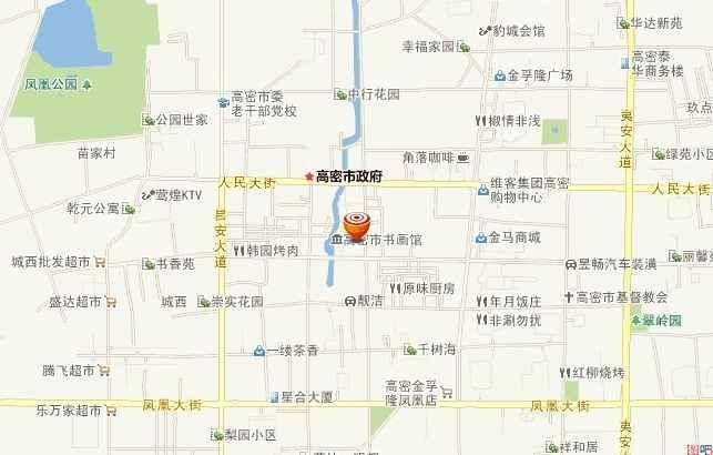 高密市区道路地图