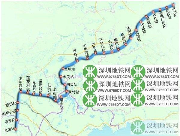深圳地铁3号线线路图图片