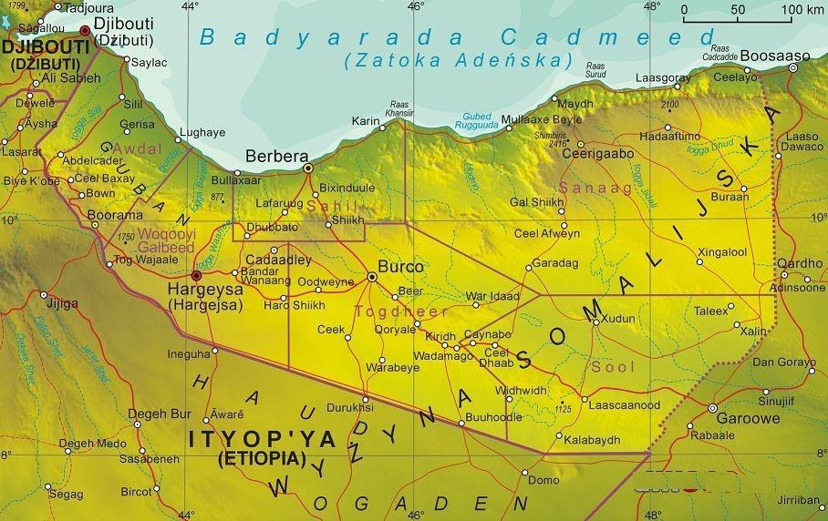 索马里兰行政地图