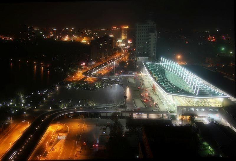 俯瞰南京站南站房