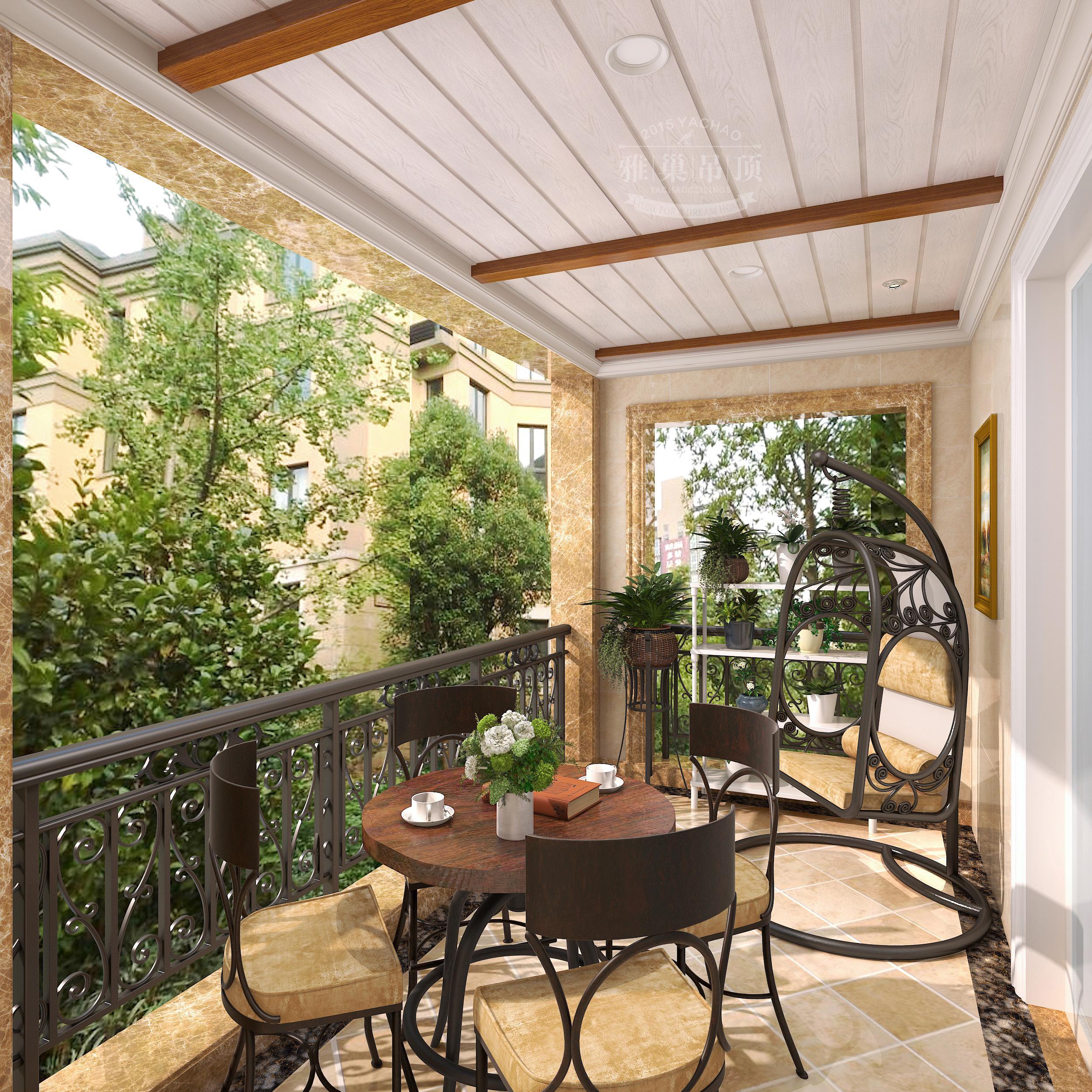 雅巢欧式风格阳台花园集成吊顶
