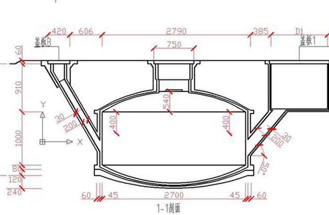 沼气池设计图图片