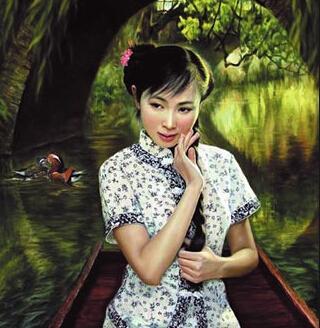 李壮平父女的油画作品图片