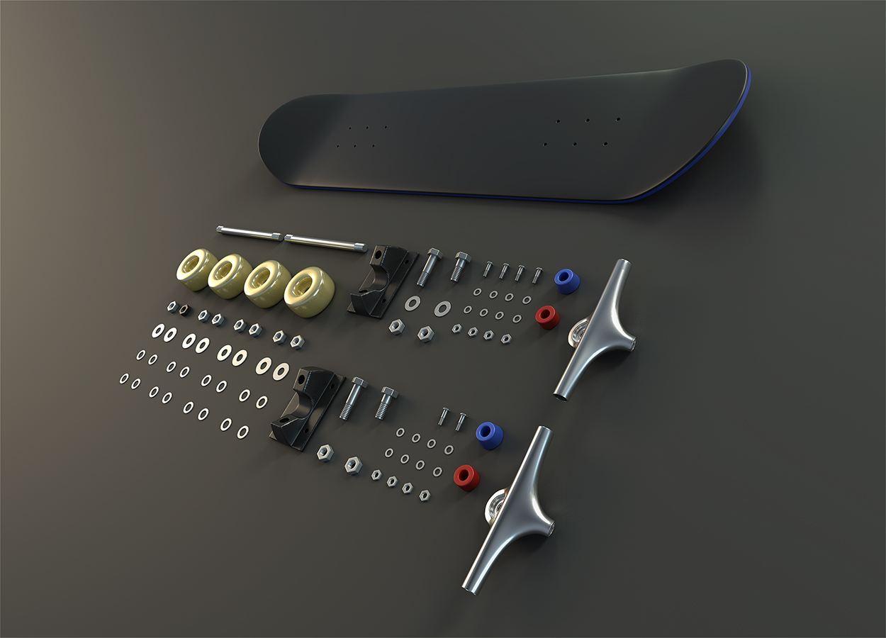 滑板结构图片