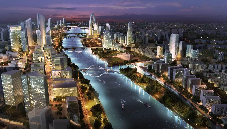 通州运河核心区规划图 /来源于网络