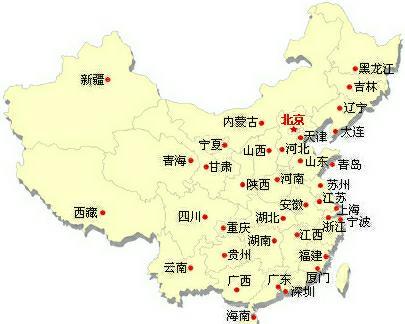中国东部地图_中国位于什么洲的东部