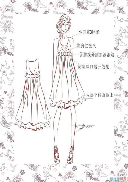 的画法,因为服装画是表现服装设计意念的必需手段.