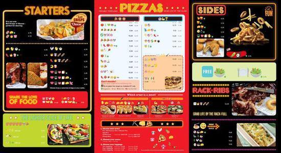 必胜客emoji菜单图片