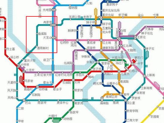 重庆轻轨规划图