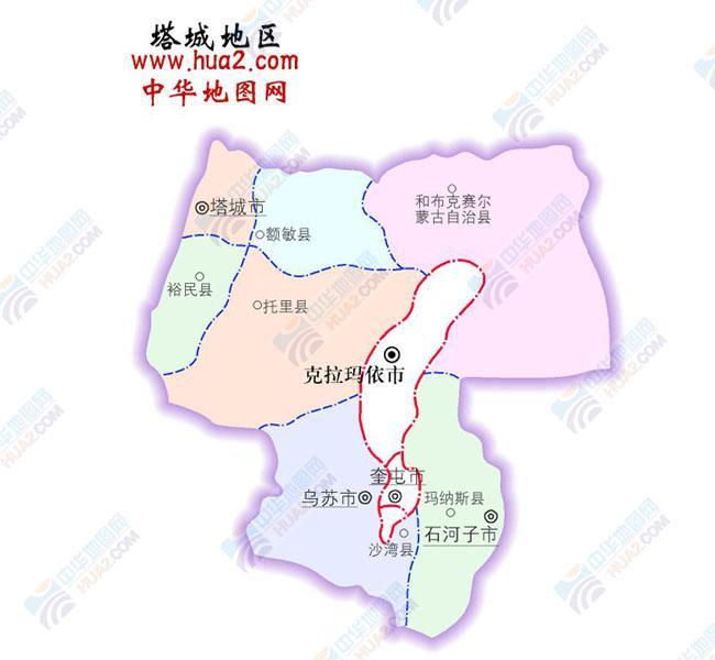 塔城地区位于新疆维吾尔自治区的西北部,   伊犁哈萨克自治州的